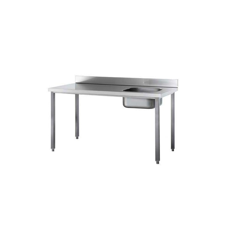 TABLE DU CHEF ADOSSEE 1400 X 600 X 900 MM