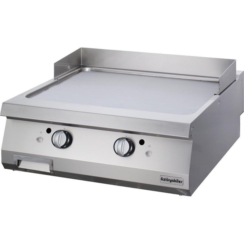 GRILLADE DOUBLE GAZ LISSE CHROME